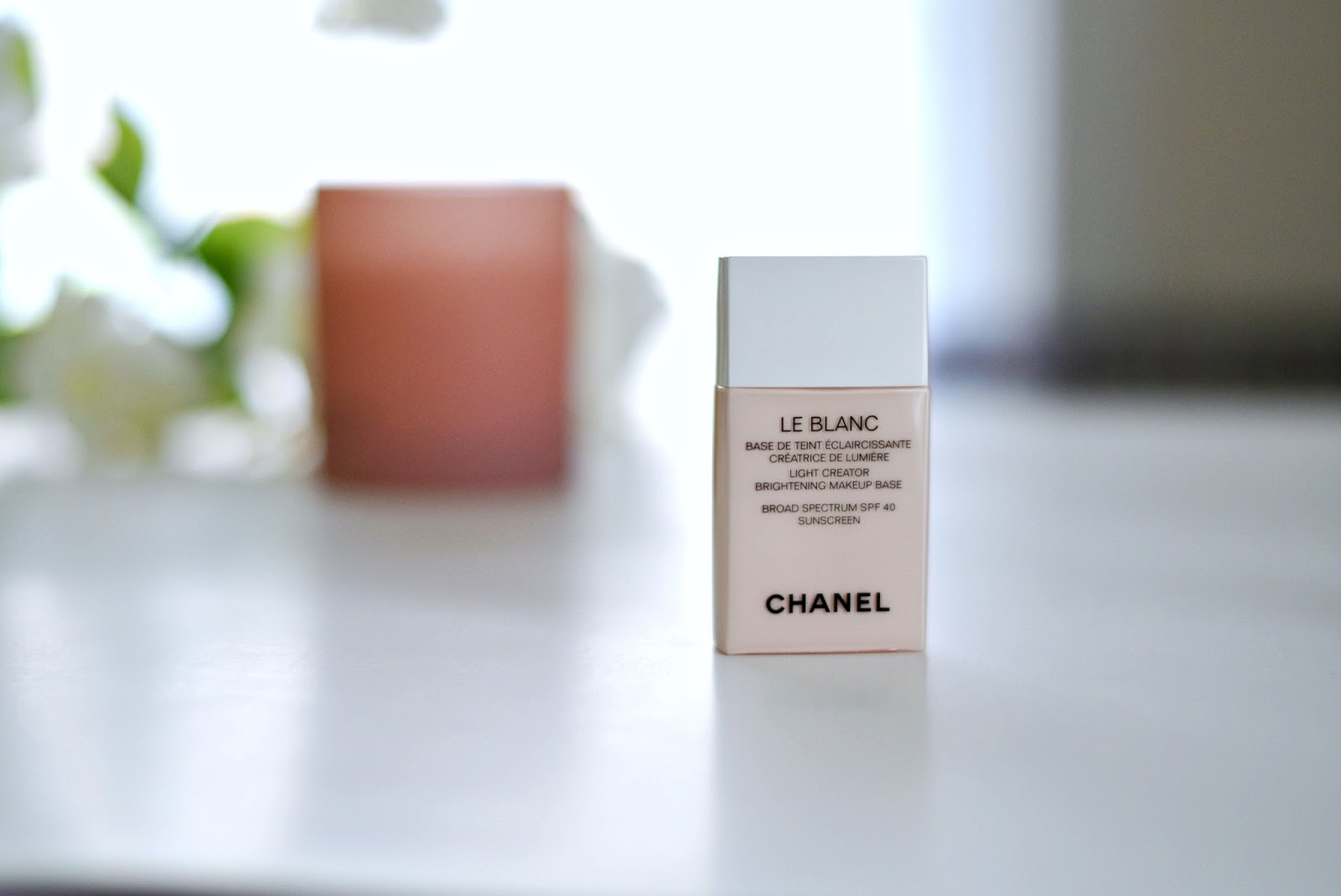 on Nnasstyleblog, review of Chanel Le Blanc Brightening makeup base review