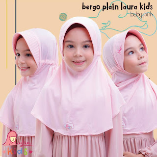 jilbab anak miulan bpl kids baby pink