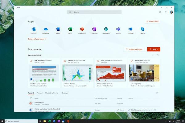 A new Office hub app