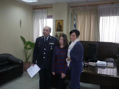 12χρονη μαθήτρια στις Σέρρες βρήκε πορτοφόλι με χρήματα και το παρέδωσε στην Αστυνομία