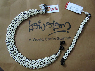 unique jewellery finds - ostrich egg shell beads necklace , african beads