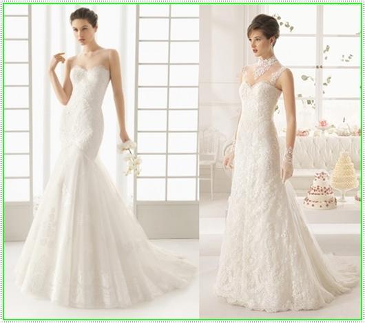 Schlichte und elegante Brautkleider