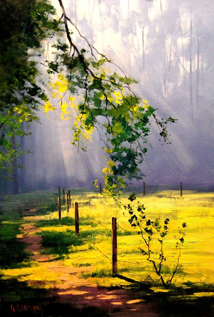 Graham Gercken 1960 | Australian Impressionist Landscape painter