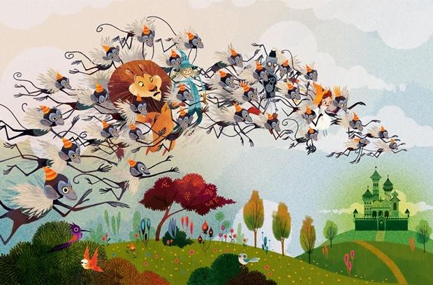 Lorena Alvarez, ilustradora Lorena Alvarez, about Lorena Alvarez, ilustrações retrô, illustration, illustration Lorena Alvarez, Mágico de Oz, lorena alvarez magico de oz, lorena alvarez gomez wizard of oz