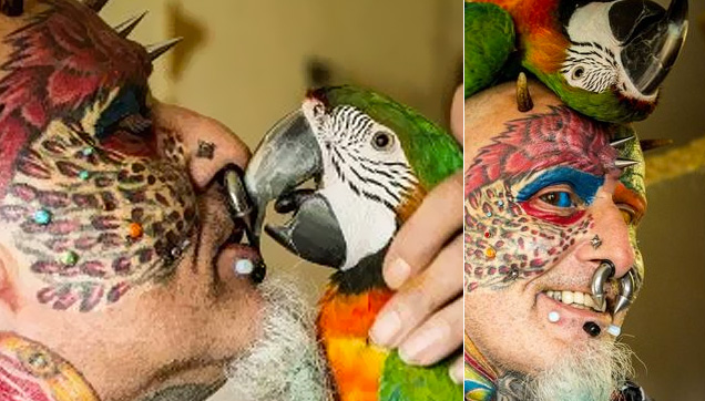Ted Richards was also known as Parrot man