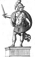 disegno di Romolo, il primo re di Roma