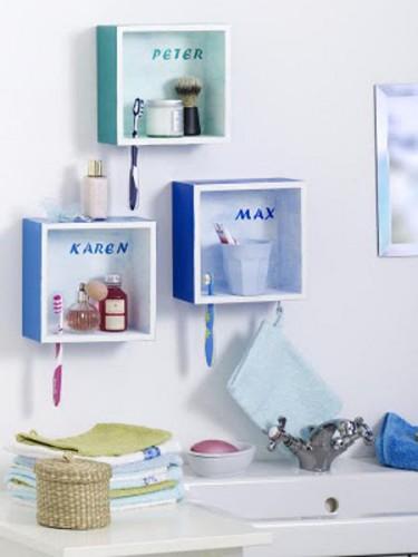 Cada um no seu quadrado...e banheiro organizado