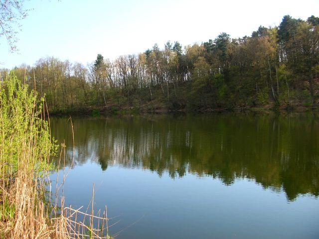 tafla wody, jezioro, szczupaki