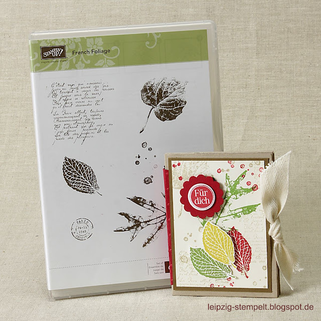 Minialbum mit dem Stempelset French Foliage
