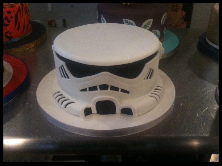 Stormtrooper Birthday Cake Outline