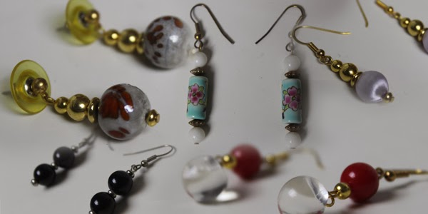 MagicCatJenny: Vintage Earrings - Nerdy Monsters' January Item