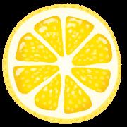 レモンの断面のイラスト