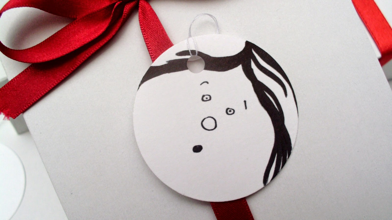 handmade funny faces gift tags