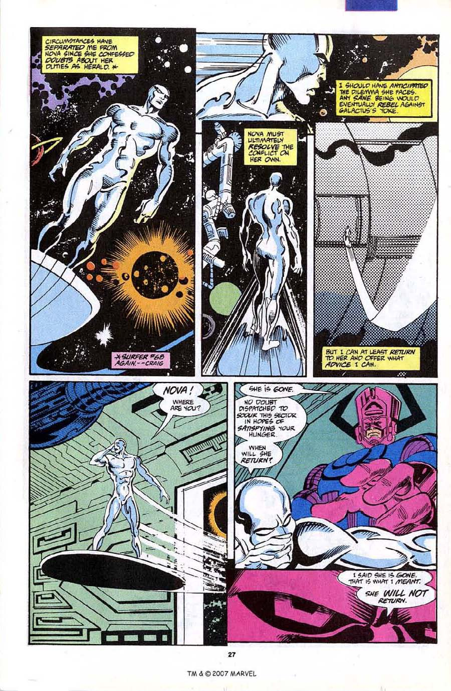 Read online Silver Surfer (1987) comic -  Issue #70 - 29