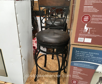 Create more seating in your kitchen with the American Heritage Swivel Barstool