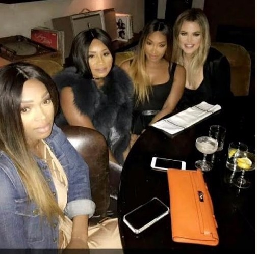 Governor Ajimobi's DisDaughter, Disown Abisola Spotted With Khloe Kardashian & The Haqq Twins (Photos)