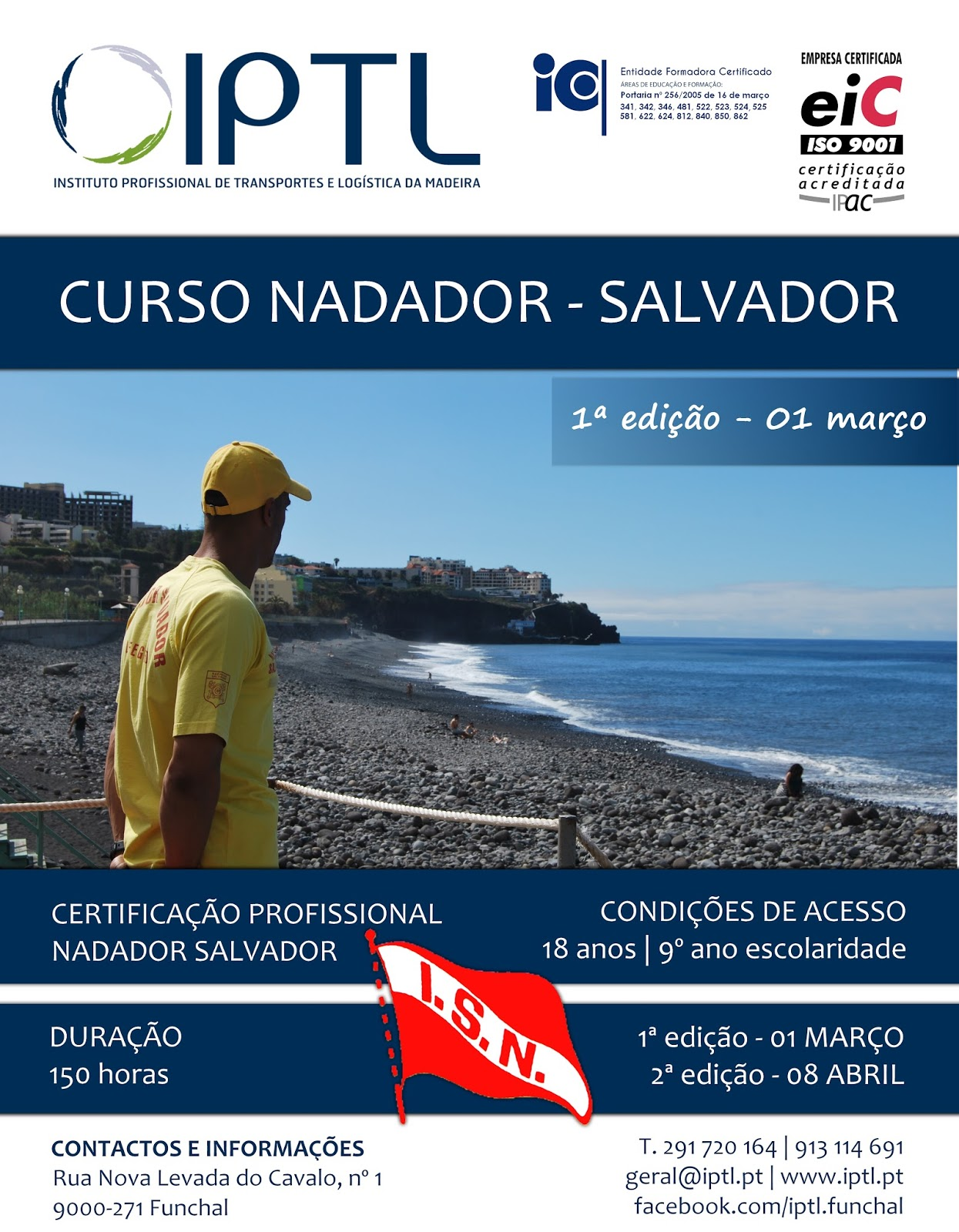 Curso de nadador salvador no Funchal