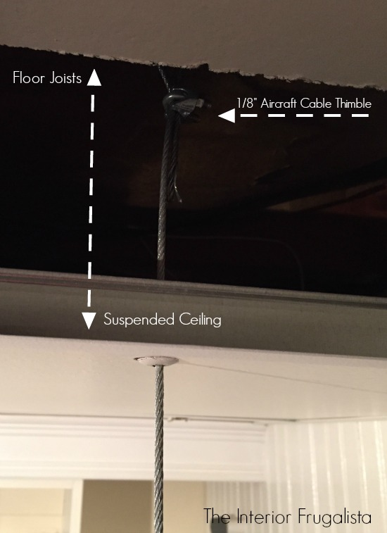 How to attach a DIY Suspended Clothes Drying Rod to the basement ceiling