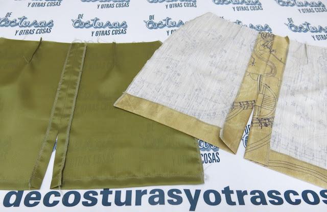 falda con abertura sencilla y forro