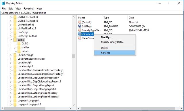 Cara menghilangkan tanda panah pada Shorcuts di Windows 2