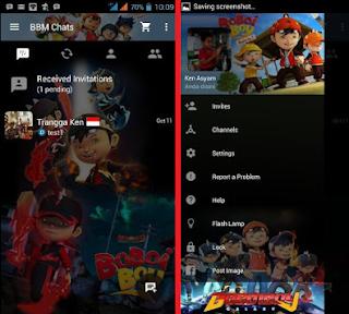 BBM Mod Tema Kartun Apk Terbaru Versi 2.10