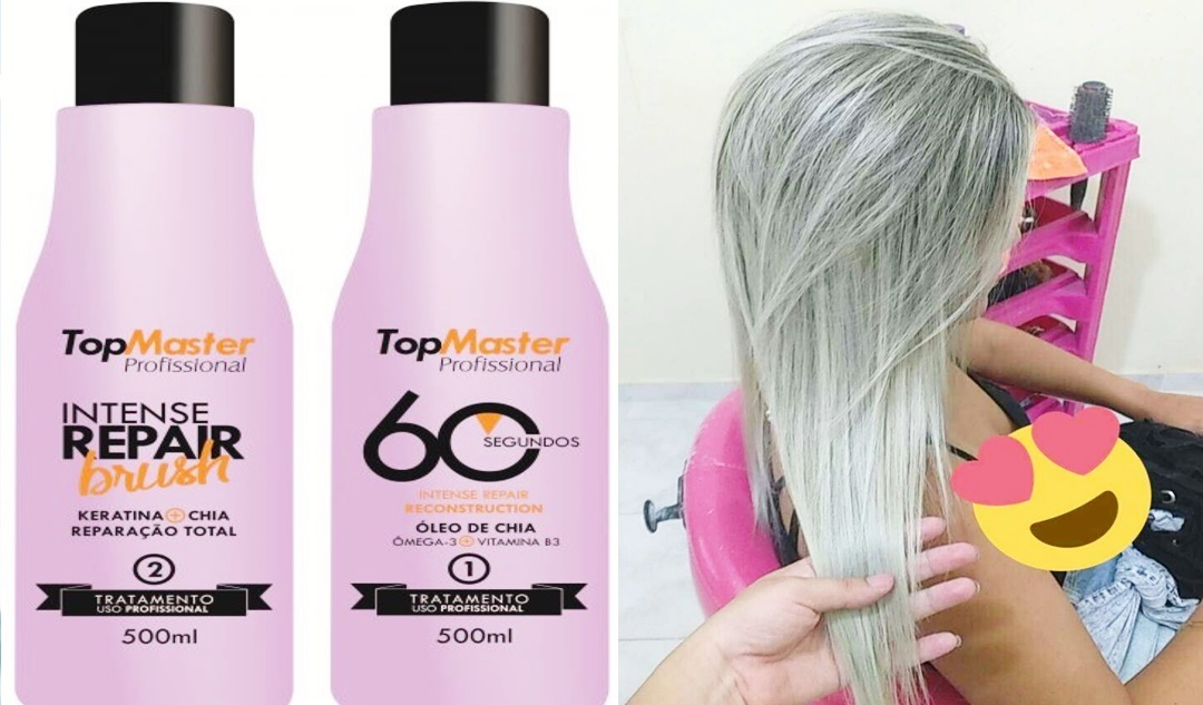 Reconstrutor 60 Segundos Top Master Adeus Cabelos Elásticos e Porosos