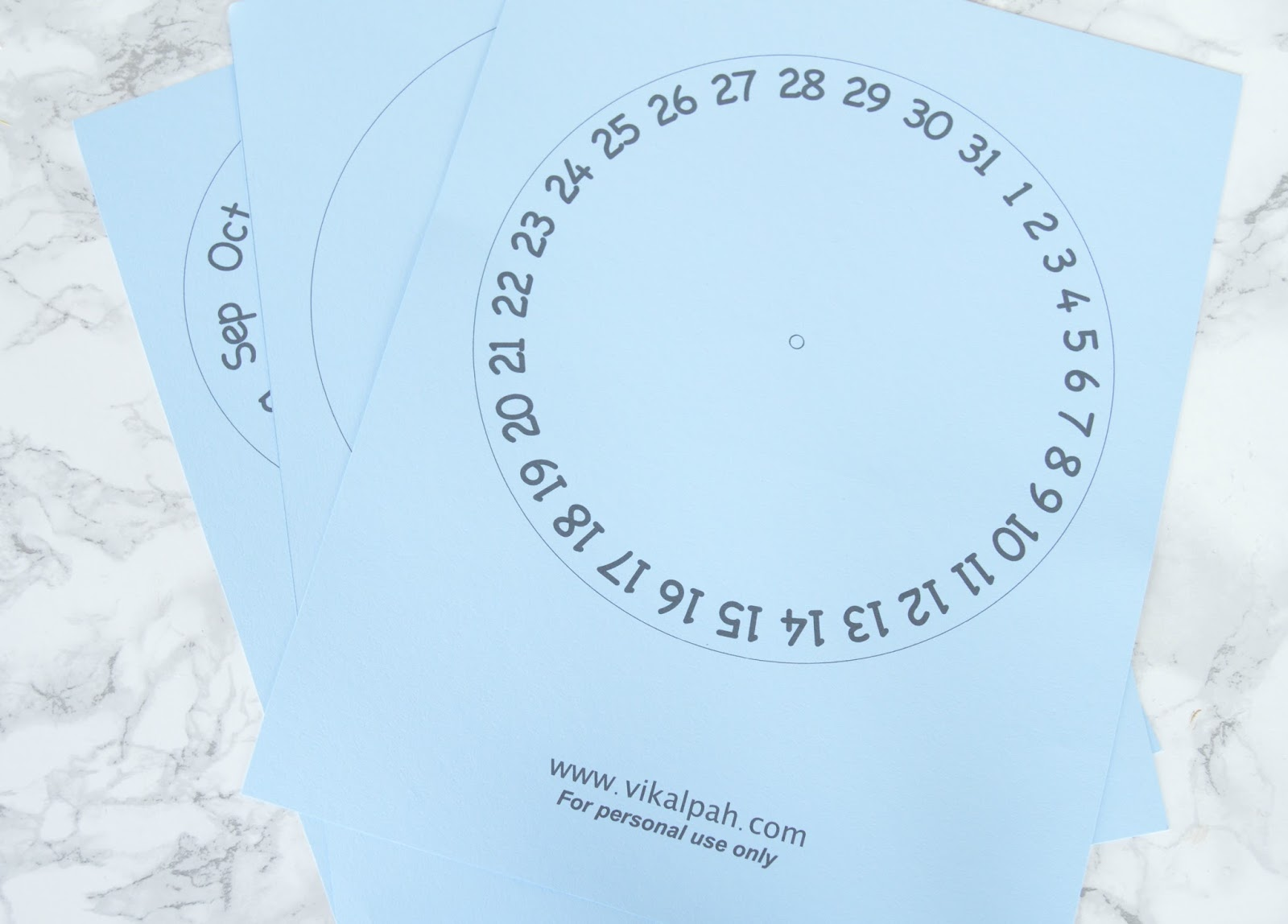 vikalpah  diy round perpetual calendar with free printable template   free cut files for silhouette