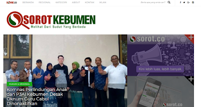 Website Kebumen.sorot.co