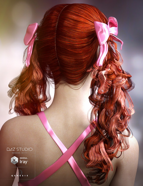 Fayette Hair for Genesis 3 Female