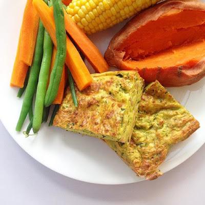 Zucchini Slice with Veggies