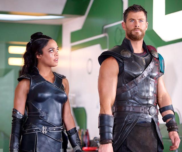 Valkrya y Thor en Thor Ragnarok