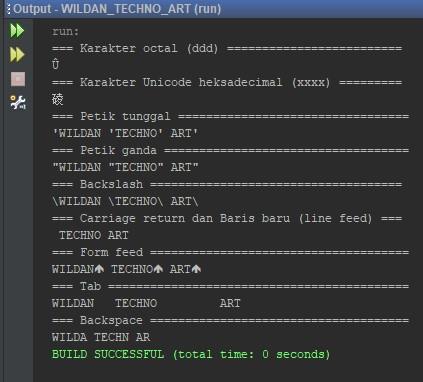 Penggunaan Escape Sequence pada Java