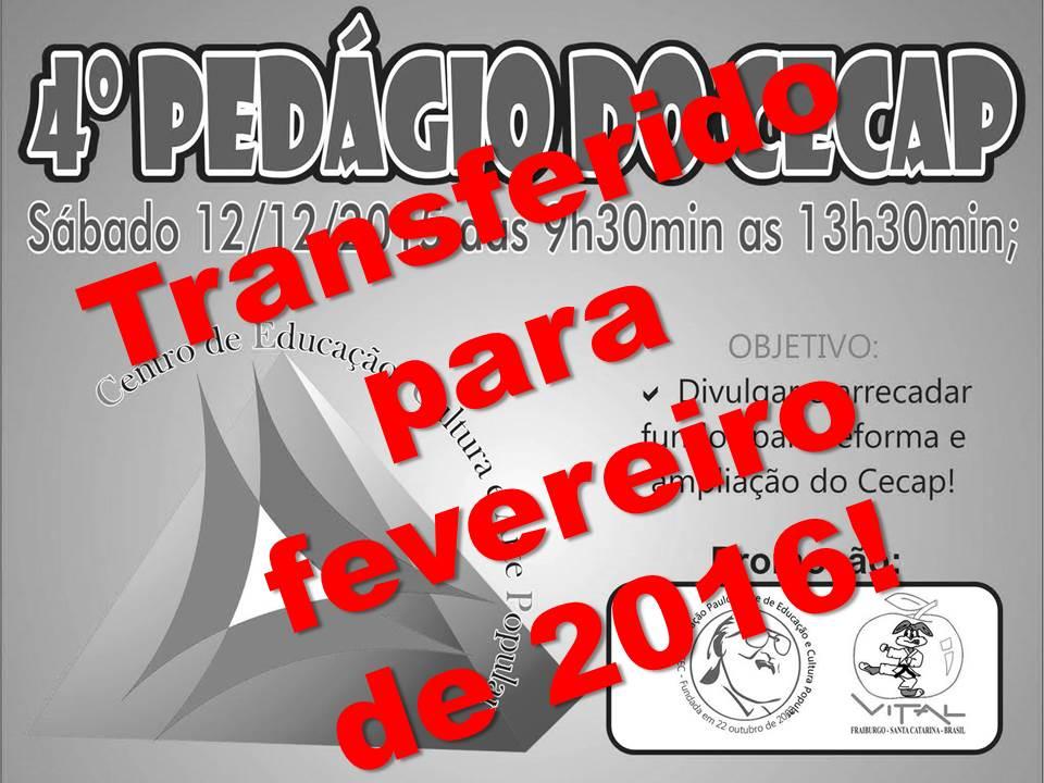 0d394f4c3 A 4ª Edição do Pedágio do Cecap (Centro de Educação