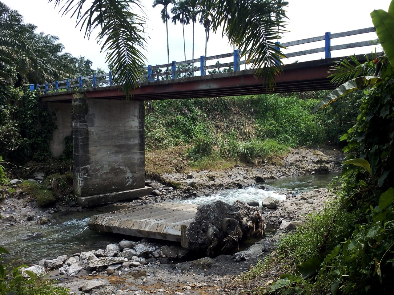 Sungai Belawan, yang berada di Dusun II Kampung Merdeka, Desa Kutalimbaru