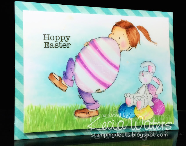 Sassy Cheryl's, Kecia Waters, Copic markers, Easter, Egg, bunny