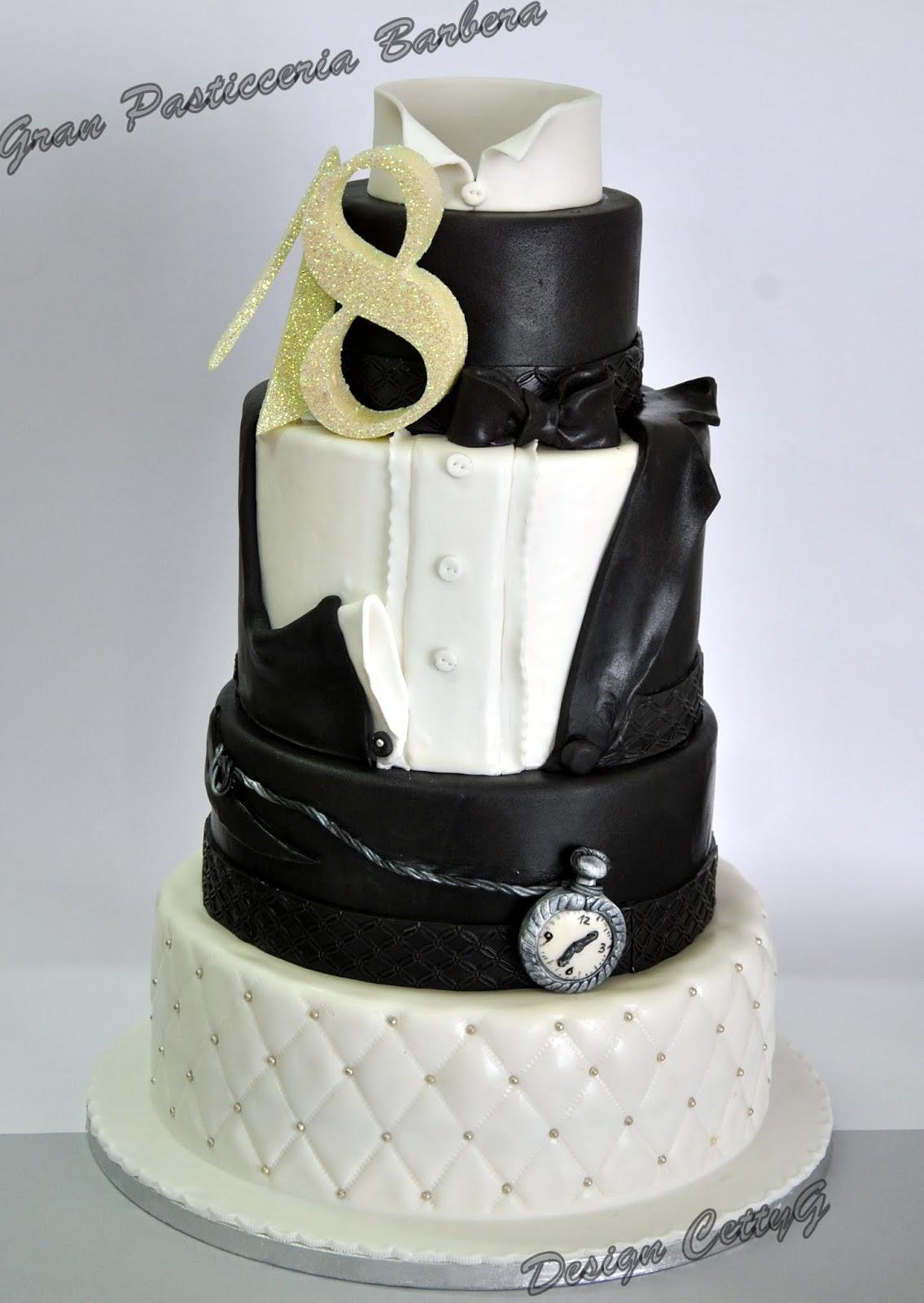 Le Torte Decorate Di Cetty G 18 Compleanno In Smoking