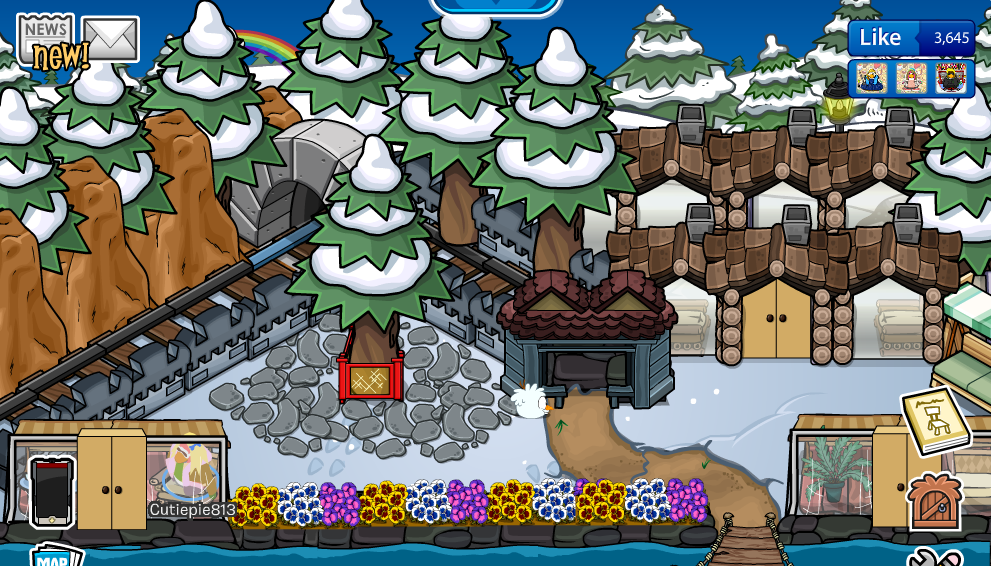 Club Penguin Igloo Ideas: Lil Vs Cutie: Animal Crossing