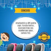 Castiga un smarwatch cu GPS pentru copii Wonlex GW700