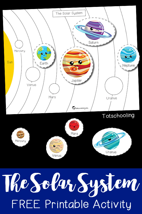 FREE printable space activity for preschoolers to learn about planets and the solar system. Make learning fun with this science activity perfect for a space theme!
