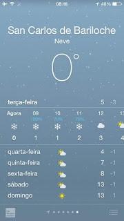 previsão do tempo de neve em bariloche