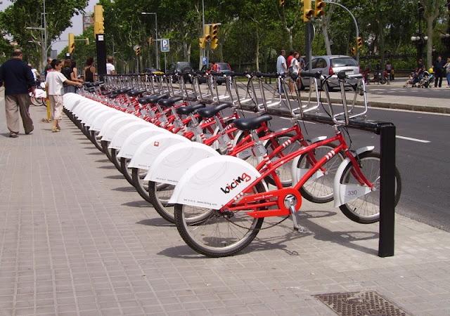 Bicicletas à disposição em Barcelona