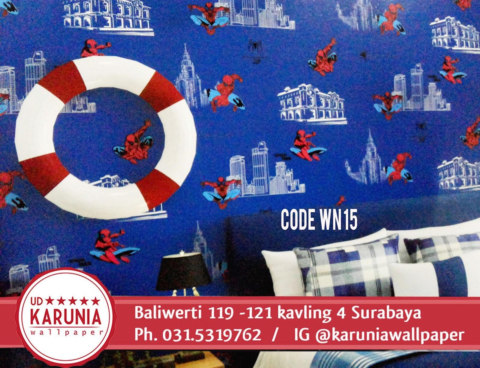 jual wallpaper kamar anak surabaya motif superhero spiderman