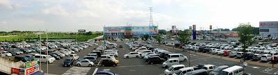 FDKショッピングモールから見た駐車場