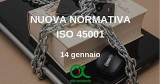 Corso Nuova Normativa ISO 45001
