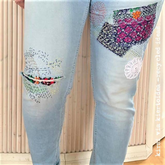 jeans sashiko mending