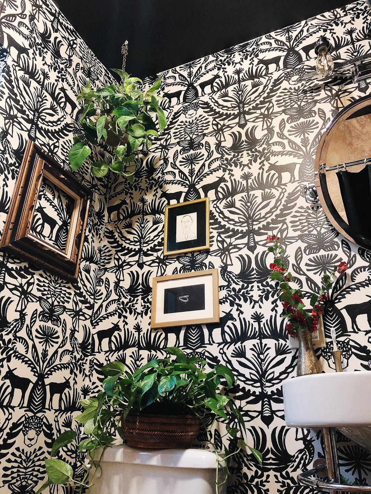 arte boheme, miami interior design, miami interior designer, miami blogger, bathroom makeover, bohemian bathroom, boho decor, boho bathroom, Opalhouse, opalhouse wallpaper