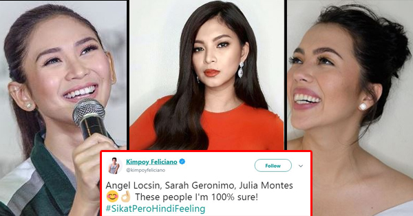 Kimpoy Feliciano Named The Three Ladies Whom He Believe Are 'Sikat Pero Hindi Feeling'