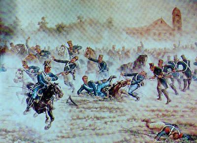 Imagen del Combate de San Lorenzo a colores