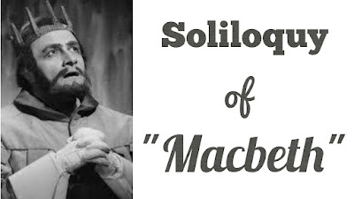 "A popular dramatic device: Soliloquy is a kind of ""dialogue with the self."" Etymologically it means ""speaking while one is alone"". When a character, alone on the stage, is speaking aloud he is making a soliloquy. A soliloquy is effectively employed by a dramatist to reveal the inner and secret thoughts of the characters in a drama and supply to the audience the necessary information not conveyed through dialogue or action.  Shakespeare's use of soliloquy: Shakespeare, like other Elizabethan playwrights, has utilised the literary device of soliloquy for a variety of purposes. He has used them very ably for analysis of motives and purposes of the characters concerned and to help in the development of the action of the play. He has also used this device to heighten the tragic or comic effect of his plays to such an extent that even in this respect no other dramatist can come near him. Shakespearean soliloquies are, like his poetry and dramatic art, a true reflection of his literary genius.  Macbeth's soliloquies:  Macbeth's asides after hearing the prophecies are in fact soliloquies that amply reveal the secret going-on in his mind and expose his character. They show Macbeth as a person given to reflection. When the Witches have uttered their prophecies Banquo finds him ""rapt"" in thought. When Rosse and Angus inform him of the conferment of title of Thane of Cawdor on him he cannot restrain himself from revealing to the audience his secret ambition of becoming King: ""The greatest is behind"". He looks upon the partial fulfilment of the prophecies ""as happy prologues to the swelling act"" of the imperial theme, He then goes on to express the inner conflict in his mind through a longer aside. He cannot decide whether this ""supernatural soliciting"" is evil or good. He admits that the thought of murdering Duncan has entered his mind and has frightened his conscience. These asides bear special dramatic significance. They expose the birth of evil in Macbeth's mind which leads to Duncan's assassination, the central act of the play.  Macbeth speaks another aside in Act I, Sc. iv just after Duncan nominates his son as the Prince of Cumberland and heir to the throne. In this Macbeth expresses greater determination for achieving his goal. He still has some scruples, but he wants to overcome them. So he invokes the stars to hide their fires so that he himself may not see his ""black and deep desires"". This aside shows a further growth of the thought of murder in Macbeth and thus helps the plot move forward.  The most famous soliloquy in the whole play is the one spoken by Macbeth in Act I, Sc. vii where Macbeth is contemplating the murder, with Duncan already in his castle as a guest. This soliloquy beginning ""If it were done, when 'tis done"" shows Macbeth's reflections on consequences of the murder. There are moral objections to the crime as Duncan is at once his king, kinsman and guest. The soliloquy ends with his realisation that there is no spur to his ""intent"" except ""vaulting ambition"". The poetical lines in the soliloquy disclose his innermost soul and through them we can trace the gradual hardening of his heart and searing of his conscience. It is from no ""compunctious visitings of nature"" but from sheer moral cowardice-from a fear of retribution in this life-that we find Macbeth hesitating, at the last moment, to commit his enormous crime. Once convinced that punishment in this life can be avoided, Macbeth regains his determination and proceeds to kill his sleeping guest.   Macbeth's next soliloquy, made just before he proceeds to murder Duncan, is a product of his heated mind. He can see a bloody dagger which is nothing but a hallucination, an expression of his guilty mind. This soliloquy once again reveals the highly imaginative mind of Macbeth. The soliloquy that he makes in Act II, Sc. ii shows a mind totally upset by a strong sense of guilt. Any noise terrifies him now. He can see blood on his hands that will make the ""multitudinous seas"" red.   His soliloquy in Act III, Se. i confirms his transformation into an absolute criminal. In this speech he expresses his jealousy and fears of Banquo whom he proposes to eliminate. The soliloquy is also significant as it throws light on Banquo's character. It is also a prelude to the next important development of the plot Banquo's murder.   Of the other minor soliloquies, one that Macbeth makes in Act V, Sc. v deserves attention. This soliloquy where he says, ""I have supped full with horrors"", shows the numbness that has overcome Macbeth's feelings, and evokes a distinct sense of pathos.  Before the end of the play Macbeth makes two brief soliloquies on the battlefield. In one he compares himself to a trapped animal-a bear tied to a stake and baited by dogs.But he expresses the confidence that he fears no man born of a woman. In the other brief soliloquy he expresses the determination to go ahead and fight and not kill himself. But in the ensuing duel with Macduff, he is killed.   Lady Macbeth's soliloquies:  Lady Macbeth also makes a few soliloquies in the play. The most important of them occurs in Act I Sc. v after she has read her husband's letter in which he has informed her of the prophecies. The soliloquy plays an important role in the revelation of Macbeth's character. No one knows Macbeth more intimately than his wife. So her analysis of Macbeth's nature through this soliloquy has to be accepted as authentic. We are told that Macbeth is ""not without ambition"" but that he is ""without the illness should attend it"". She tells us that her husband ""wouldst not play false,/And yet wouldst wrongly win"". She deplores that Macbeth is too full o' th' milk of human kindness"". As the speech tells us much about Macbeth, so it tells us a good deal about Lady Macbeth, for in analysing the character of others a speaker must reveal something of his own self. She exemplifies to a high degree the influence of ambition as a force that sustains the will to a certain point, and overbears all scruples in self and others. It can also be noted that she never hints at personal animosity towards Duncan. It is Shakespeare's purpose to show that she acts solely for her husband's sake as Verity observes.  Lady Macbeth makes her second soliloquy in the same scene after she receives the news of the imminent arrival of the King in her castle. She begins to look upon Duncan's visit as his ""fatal entrance"" into her castle. She invokes the Spirits to ""unsex"" and harden her so that her feminine instincts do not stand in the way of the achievement of her purpose. Her speech also shows her as a woman of extreme nervous sensibility, She knows that she must bend her will to the breaking point, if she is not to fail in the middle of the work which now she means to do herself, though afterwards she makes Macbeth do it. This intense strain on her will, by the natural process of reaction, contributes greatly to her ultimate breakdown. Coleridge thus comments on the last few lines of the soliloquy:  ""Her speech, 'Come, all you spirits that tend on mortal thoughts' etc. is that of one who had habitually familiarized her imagination to dreadful perceptions, and was trying to do so still more. Her invocations and requisitions are all the false efforts of the mind accustomed only hitherto to the shadows of the imagination, vivid enough to throw the everyday substances of life into shadow, but never as yet brought into direct contact with their own correspondent realities""  Lady Macbeth's third soliloquy in Act iii, Sc. ii reveals her state of depression. Her words, ""Nought's had, all's spent"", reveals the profound melancholy that has been enveloping her whole being from the moment of achieving her ambition. Bradley thus narrates her present state of mind:   ""The glory of her dream has faded. She has thrown away everything and gained nothing. She reached at the golden diadem, which is to sear her brain"".   The soliloquy also serves the dramatic purpose of contributing to the pathos of the tragedy.   Banquo's soliloquy:  Banquo's soliloquy at the opening of Act III, Sc. i is significant in that it throws some light on his character. Here we find that Banquo's assumed nobility and honesty are in no way perfect. He is also guilty of unlawful ambition. He hopes that the prophecies of the Witches which have proved true in Macbeth case should also come true in his case. This belief in the Witches does not at least show him as an embodiment of moral perfection.   Conclusion: The soliloquies in ""Macbeth"" then, as those in other Shakespearean plays, function as an effective dramatic instrument of illuminating character and conflict, for accelerating the action, and for the evocation of its intended atmosphere."