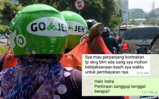 Mengharukan!! Kisah Driver Gojek dengan Ibu Kos Ini Bikin Haru Netizen... Isinya Sangat Mengejutkan!!